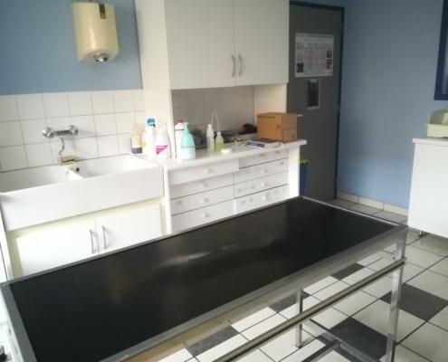salle de préparation chirurgie clinique vétérinaire Laloubère Tarbes